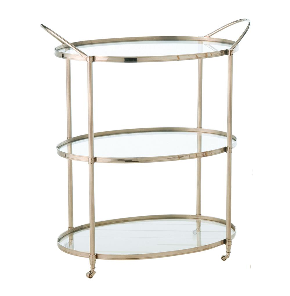Connaught Polished Nickel Oval Modern Bar Serving Cart  : product4277 from www.kathykuohome.com size 999 x 1021 jpeg 48kB