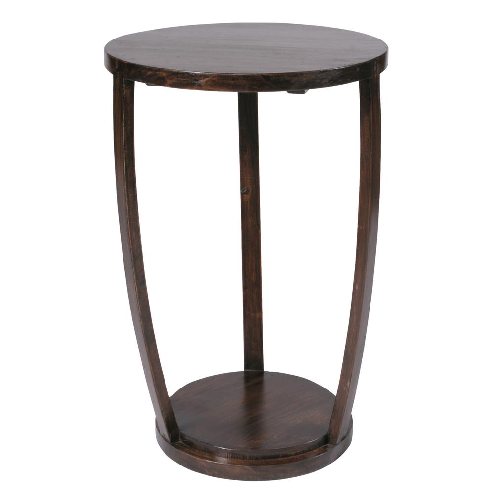 Gotham Espresso Contemporary Tall 27 H Accent Table