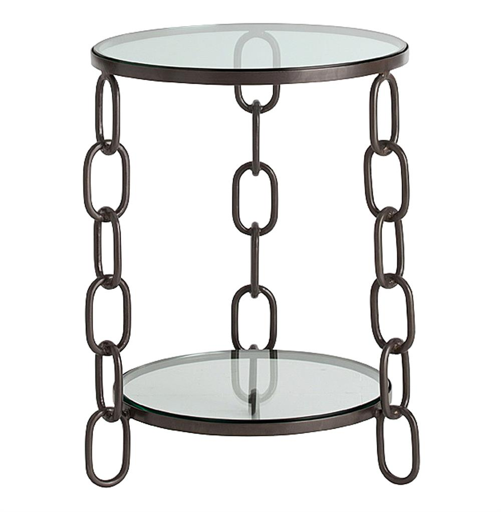 Iron Side Table ~ Paxton modern industrial chain link iron side table