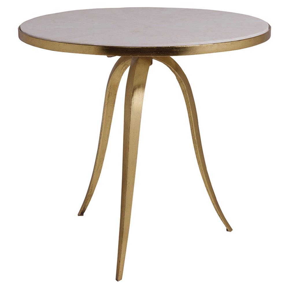Artistica Crystal Modern Round White Stone Top Gold Iron