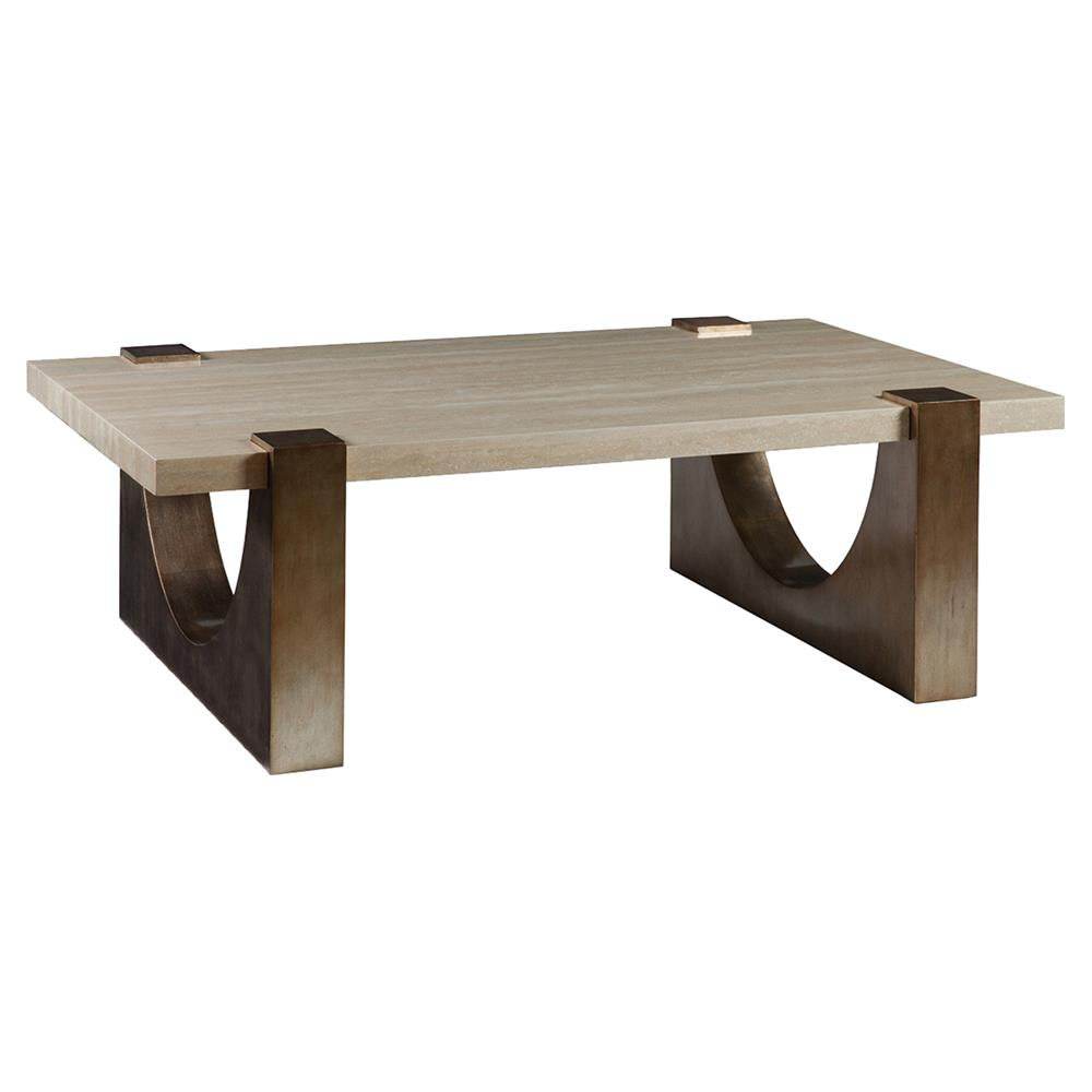 Stone Base Coffee Table.Artistica Impresario Modern Rectangular Silver Stone Top Wood Base Coffee Table