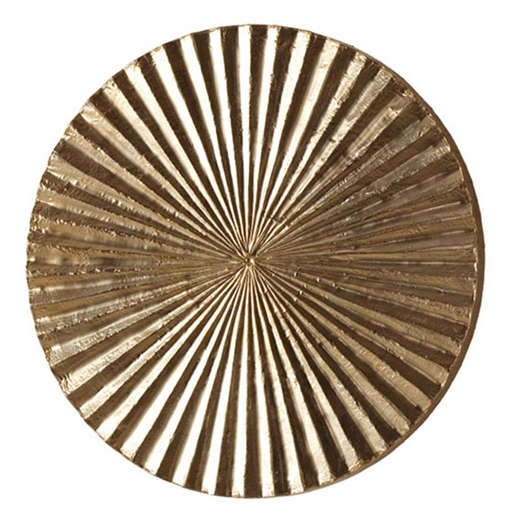 Apollo metallic silver modern wood circle wall art decor for Small wall art