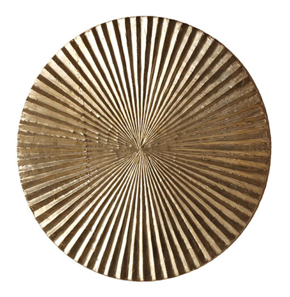 Apollo metallic silver modern wood circle wall art decor for Modern house 18x18