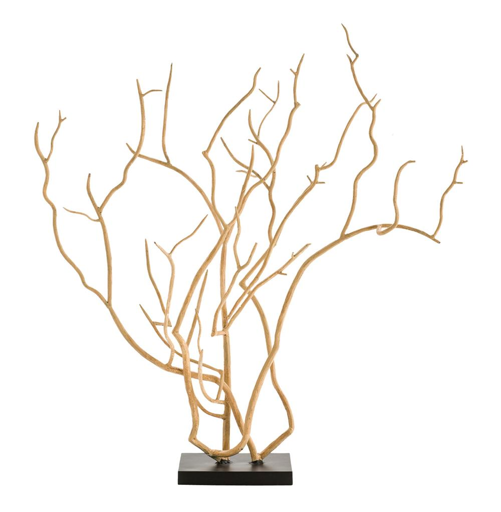 Dunston Modern Beige Iron Tree Branch Sculpture Kathy