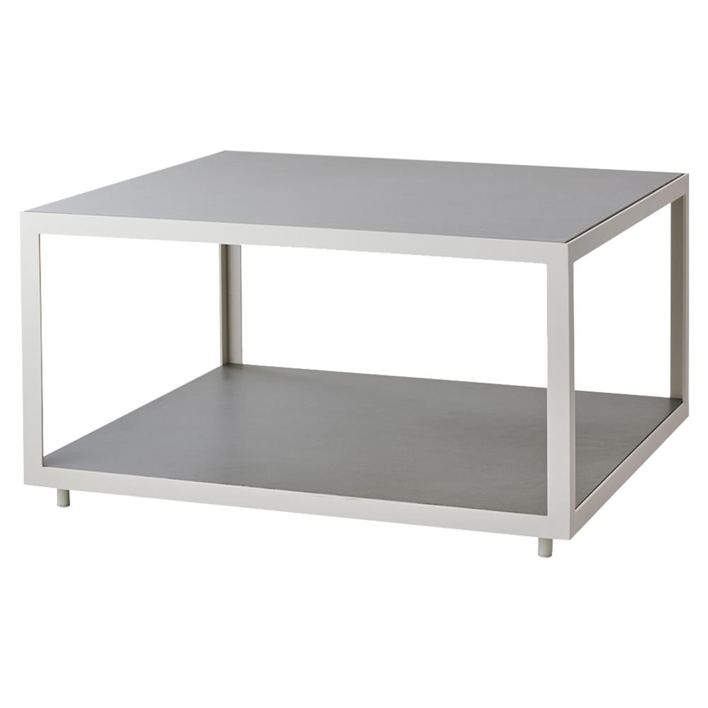 Industrial Coffee Table White: Cane-line Level Industrial Grey Concrete Top White