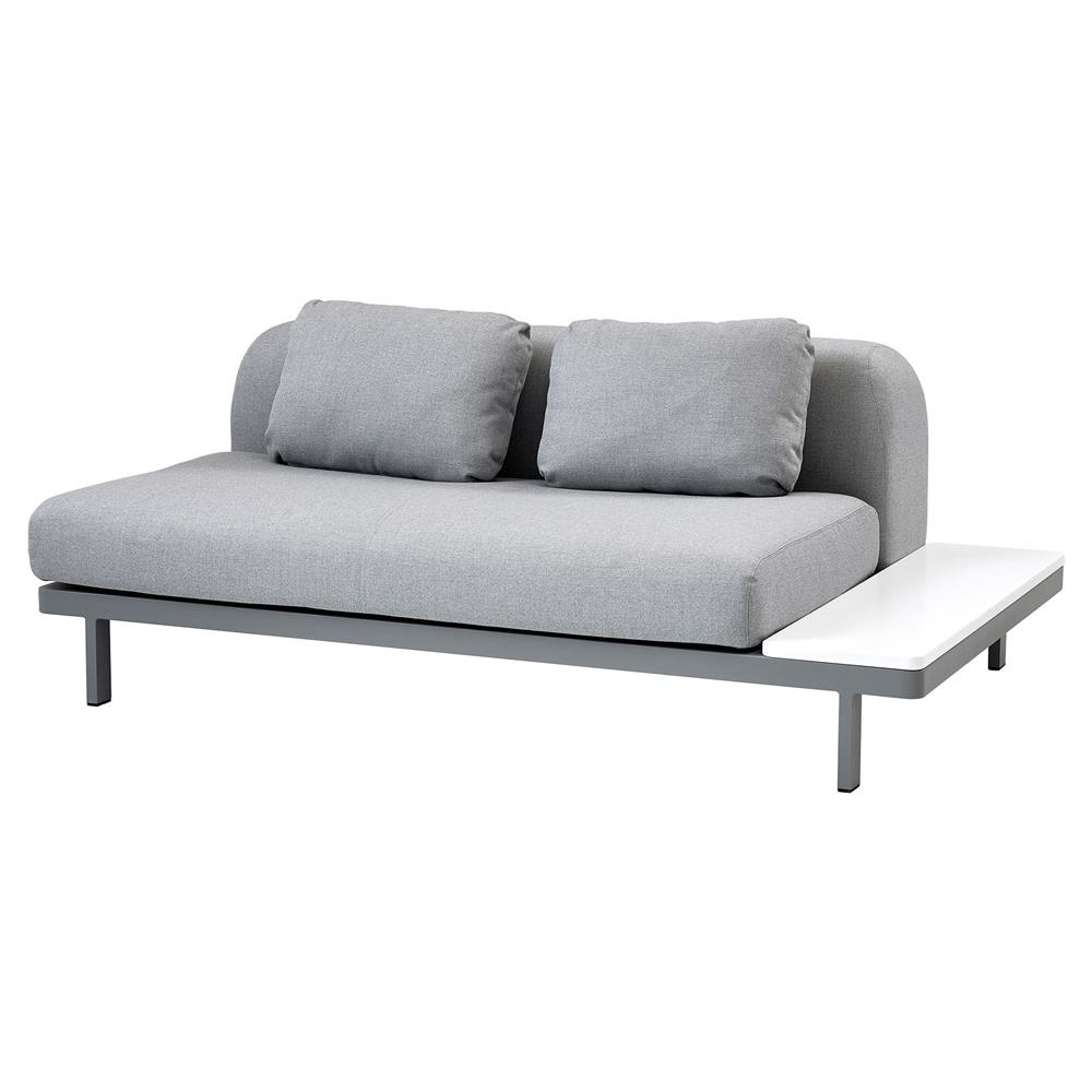 Cane-line Space Modern Grey Outdoor 2 Seater Armless Sectional Sofa