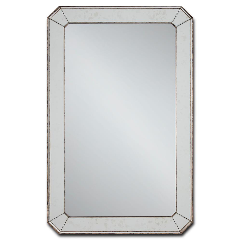 The Coveteur Antique Mirror Walls: Hollywood Regency Antique Mirror Classic Bevel Cut Wall Mirror