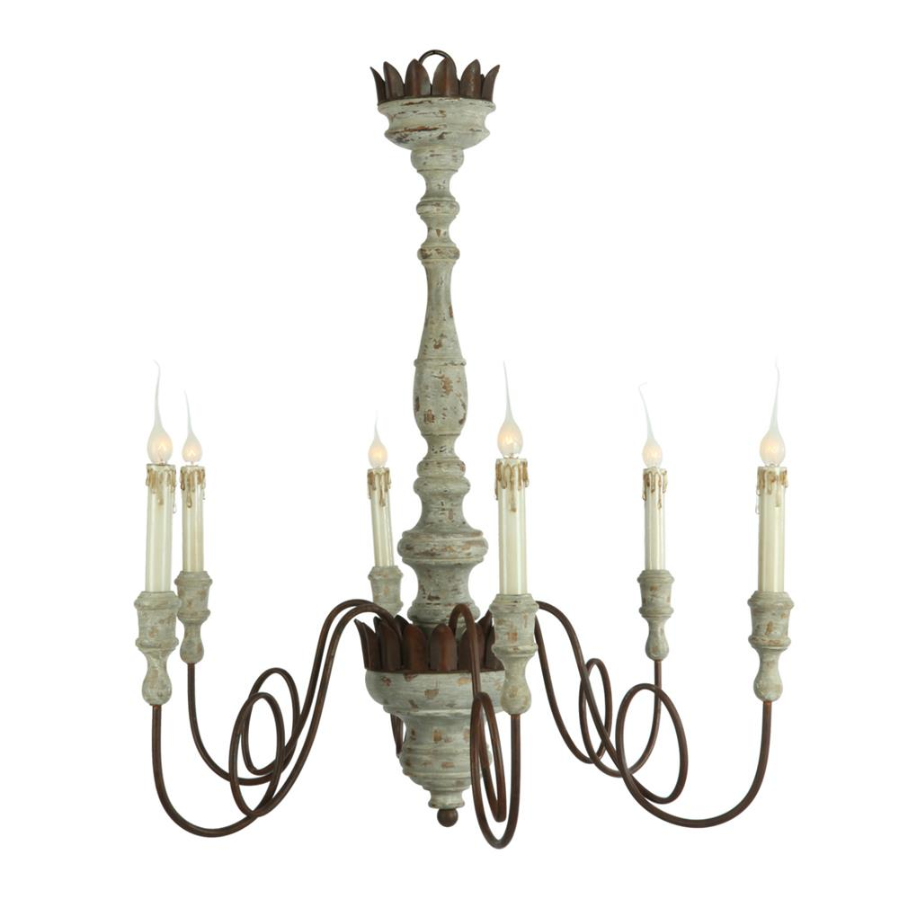Aidan Gray French Country Wood Chandelier.