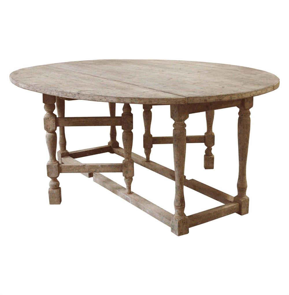 Swedish Gustavian Oval Drop Leaf Dining Table