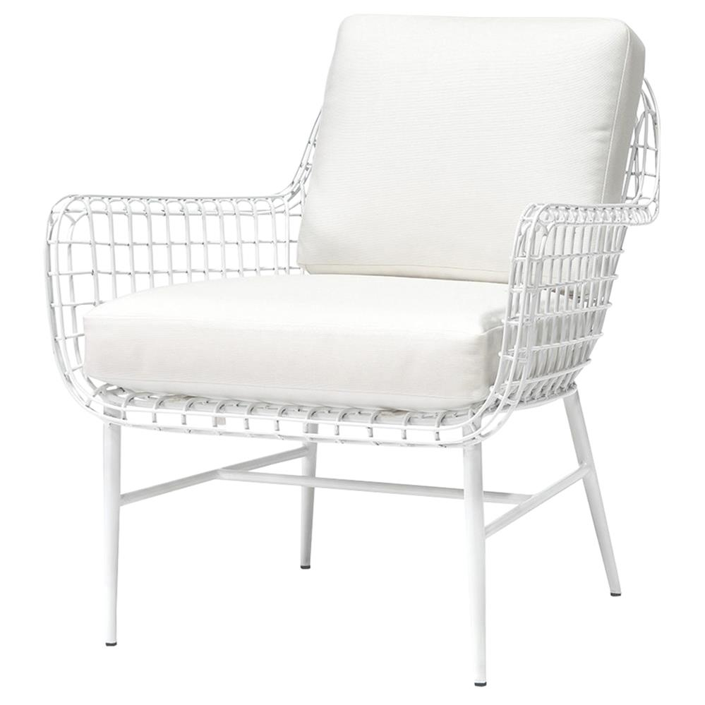 Palecek Olsen Coastal Beach White Aluminum Outdoor Lounge Chair Kathy Kuo Home
