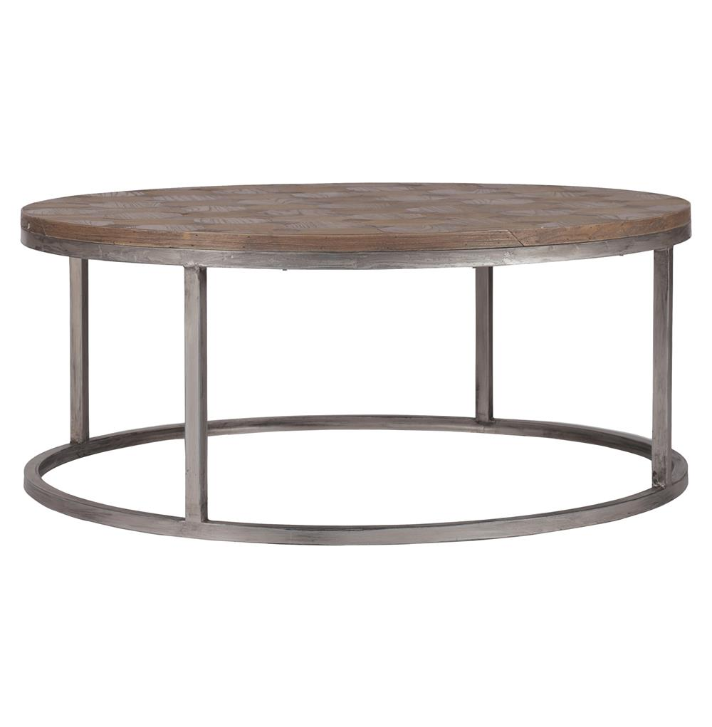 Industrial Unique Metal Designer Coffee Table: Colby Modern Industrial Loft Reclaimed Wood Coffee Table