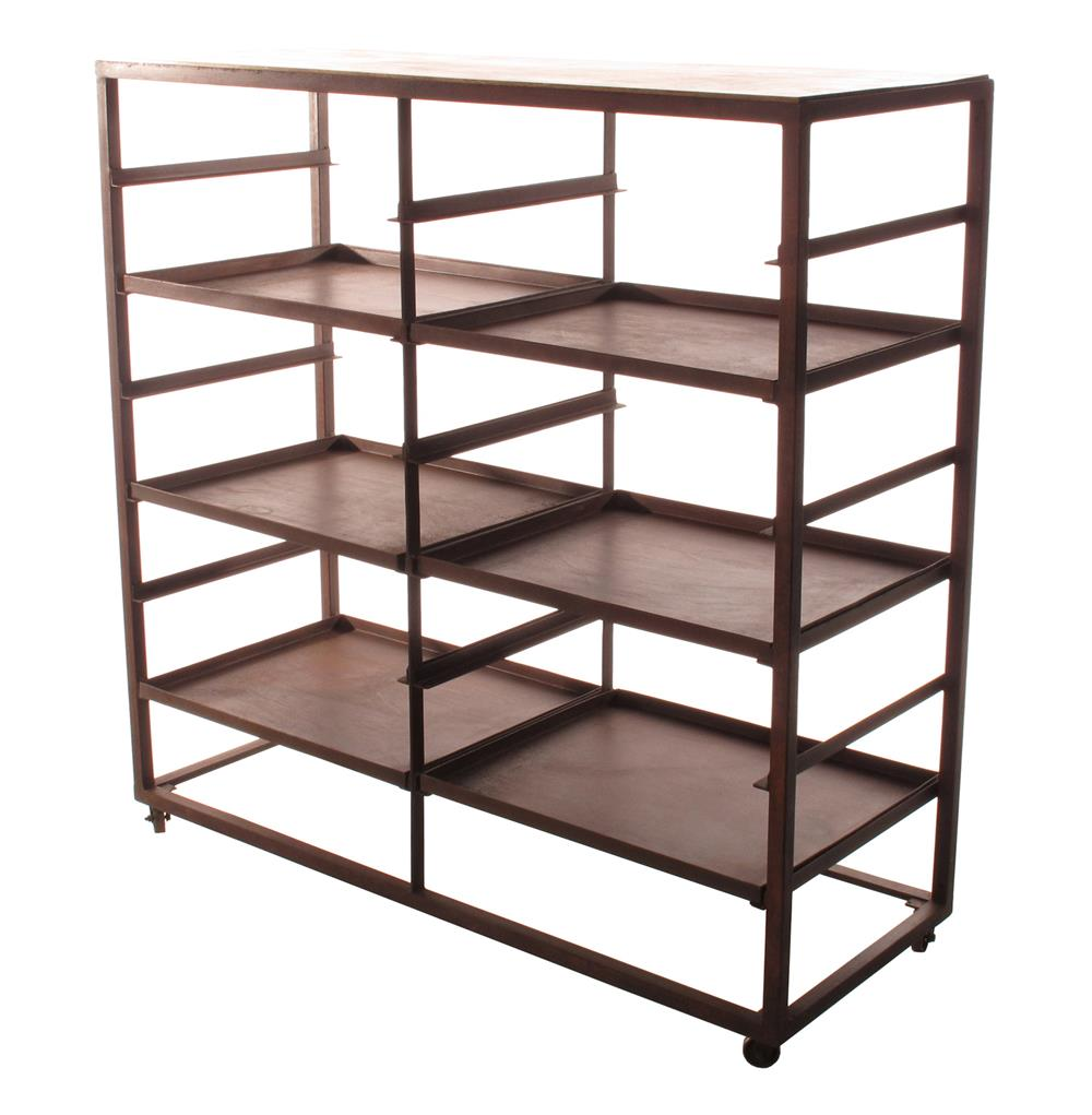 Buttermere industrial loft 2 tier baker s rack display bookcase