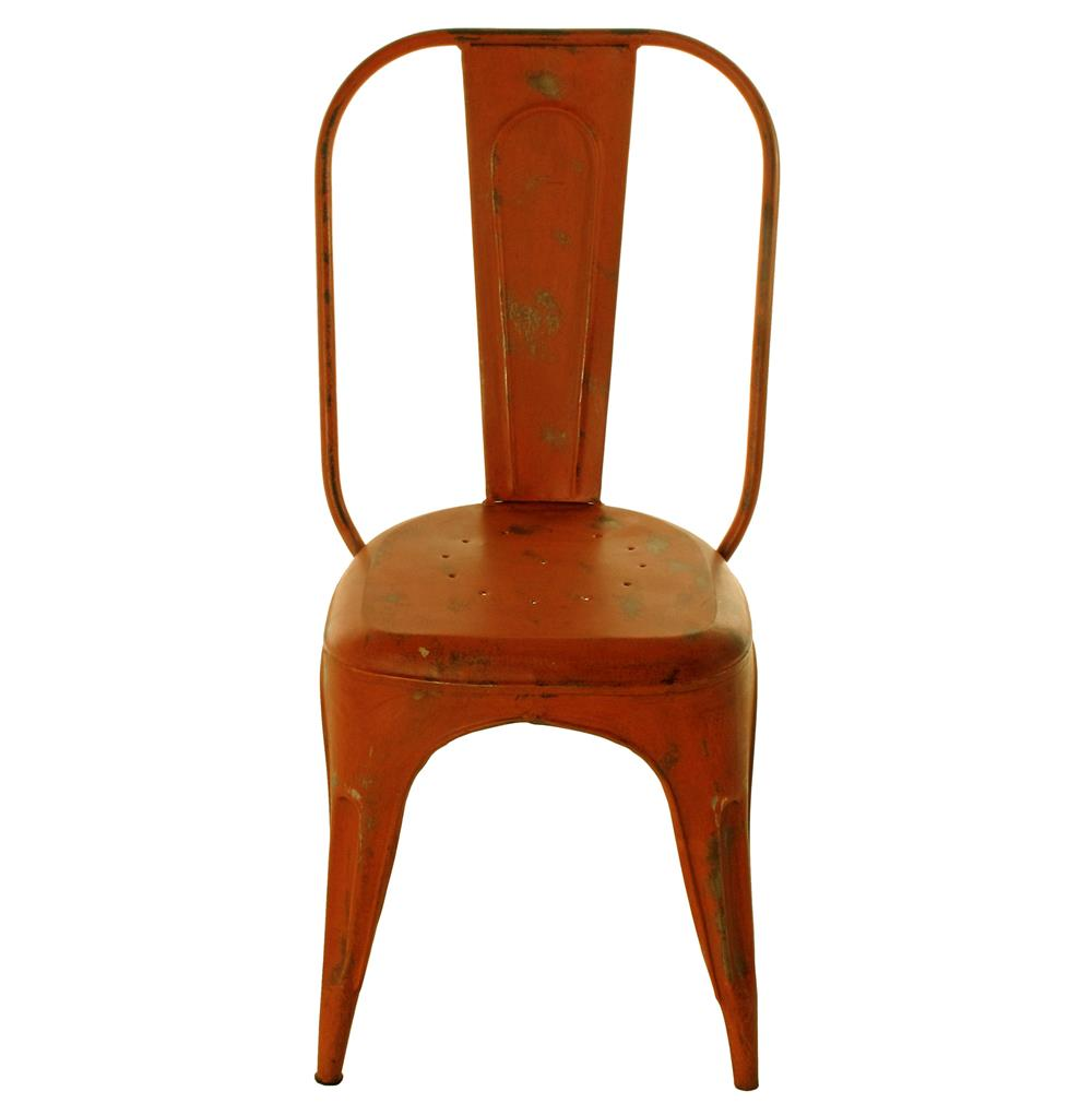 iron rustic orange cafe chair kathy kuo home