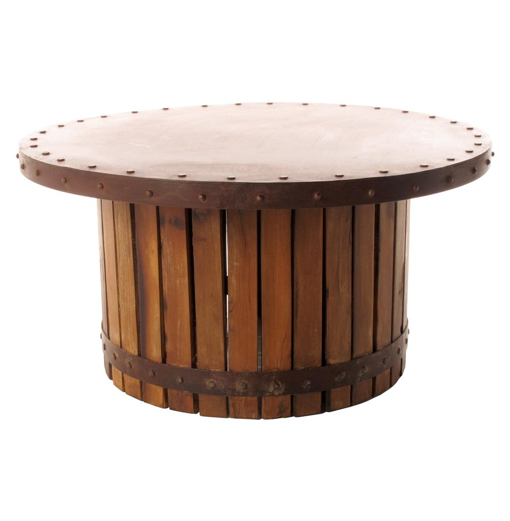 Copper And Wood Coffee Table: Inactive Product
