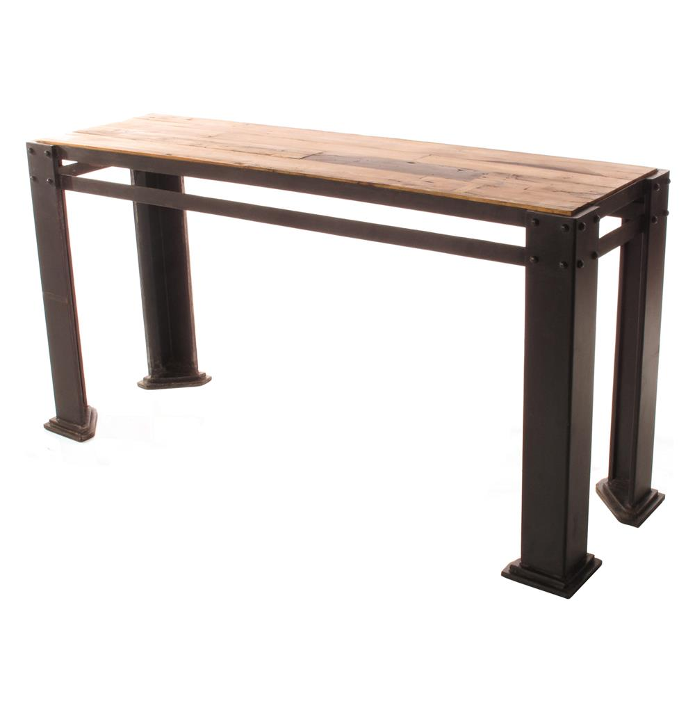 Rigger s reclaimed teak wood chunky leg console table