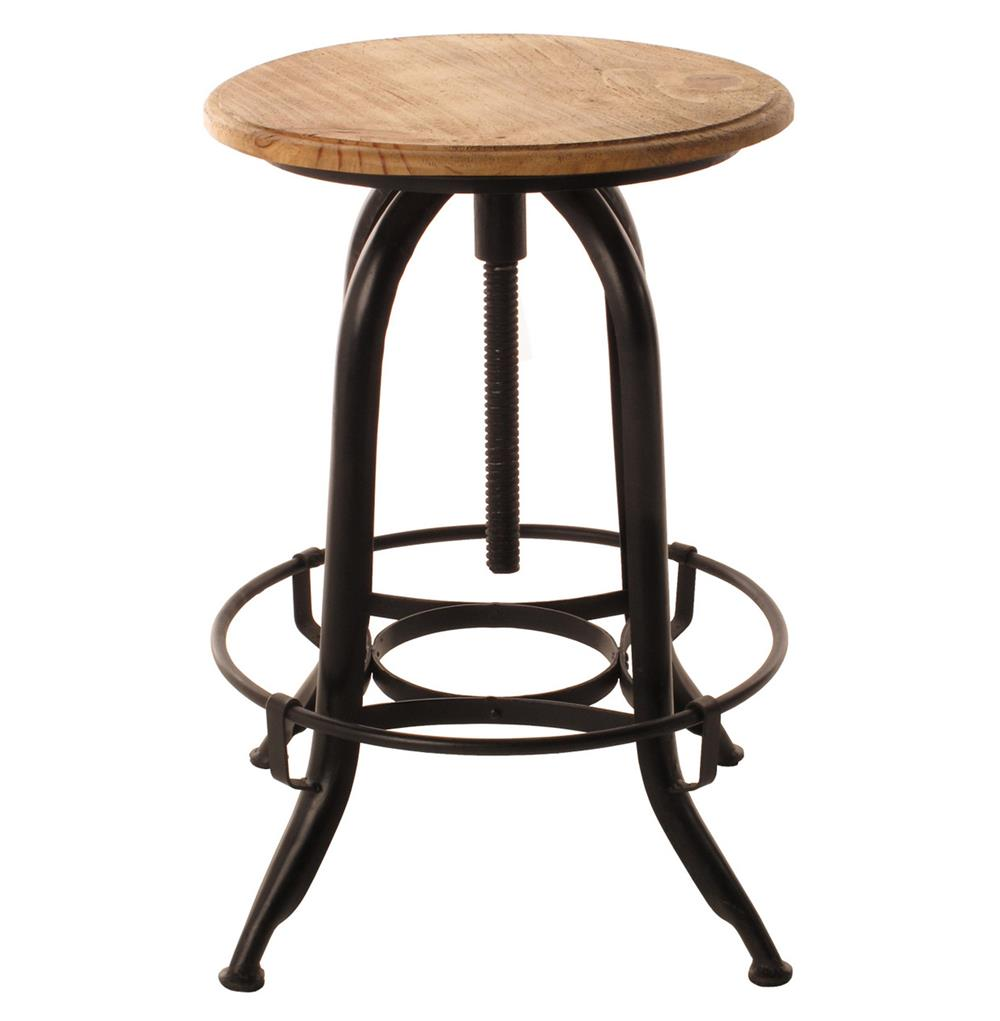 Wood Counter Stools ~ Architect s industrial wood iron counter bar swivel stool
