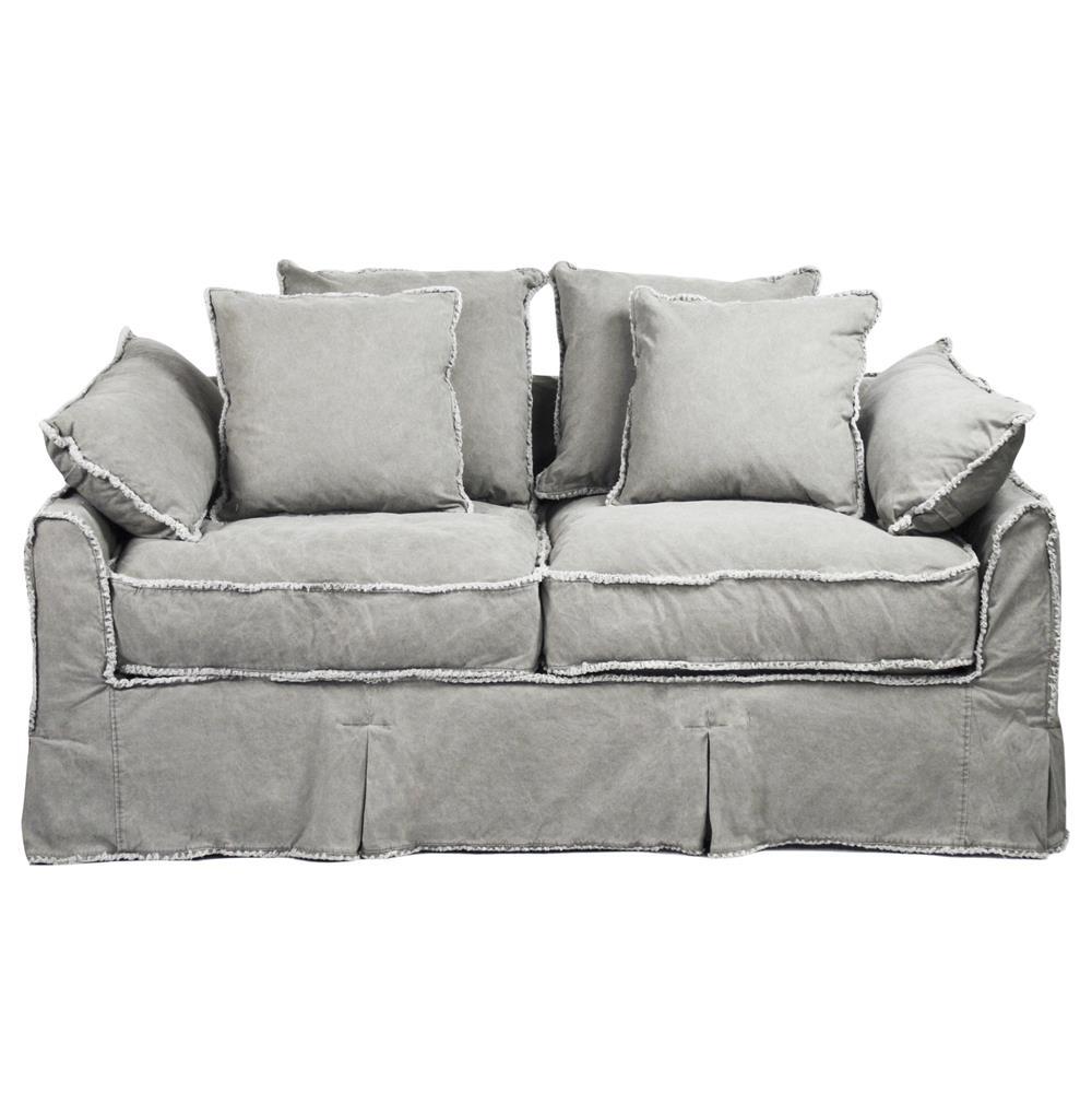 Kelvin Stonewash Canvas Fog Cottage Style 2 5 Seat