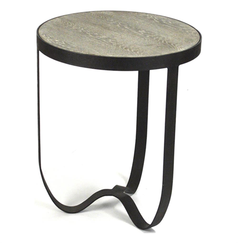 deco industrial modern rustic metal round side table. Black Bedroom Furniture Sets. Home Design Ideas