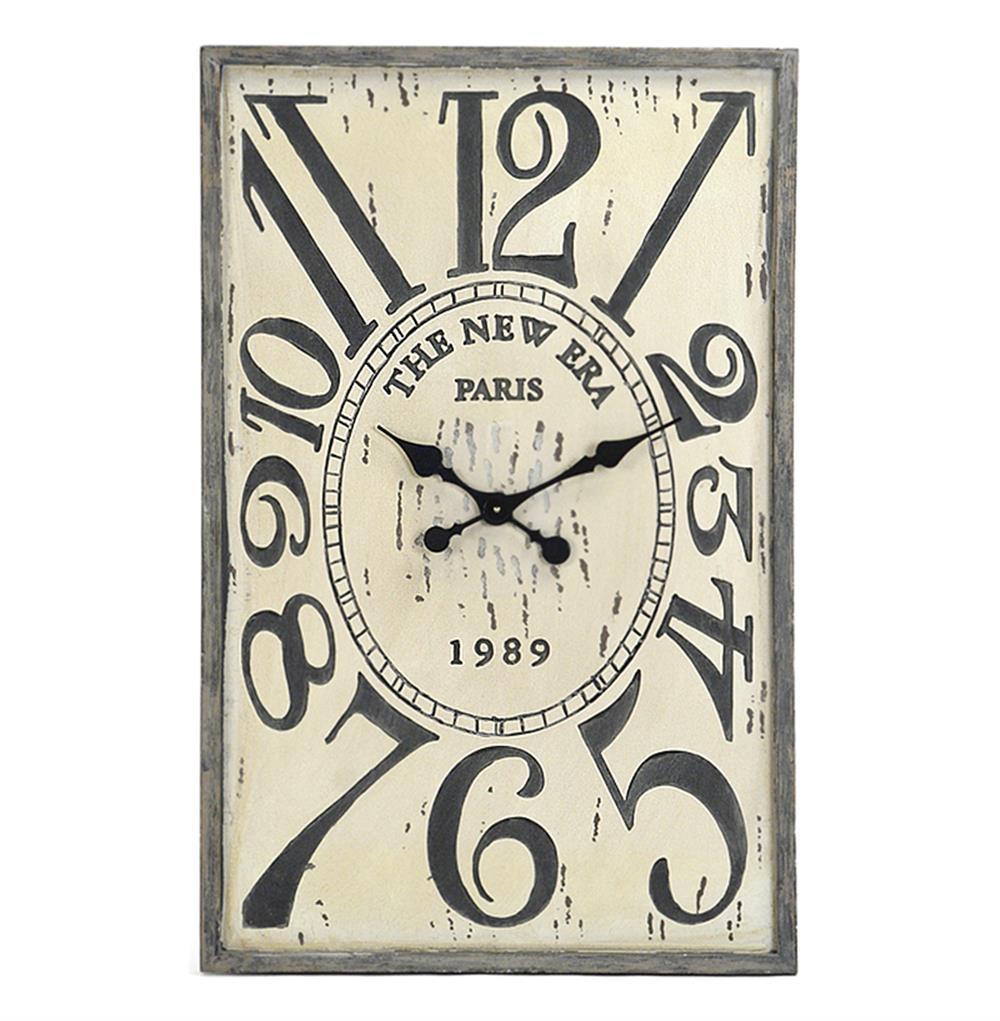 French country vintage wood hanging wall clock kathy kuo home amipublicfo Choice Image