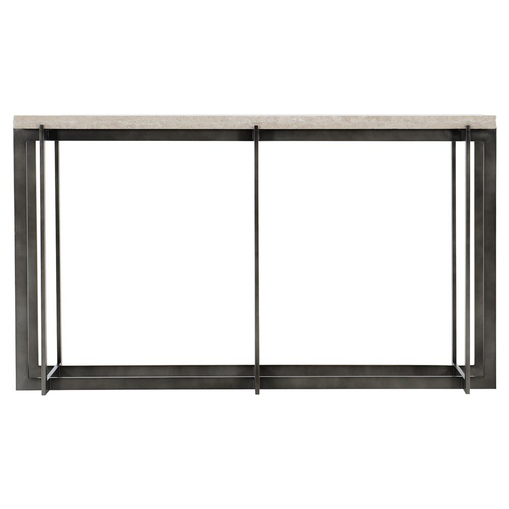 ae5f377db6368 Hilda Modern Classic Travertine Stone Top Metal Rectangular Console Table |  Kathy Kuo Home