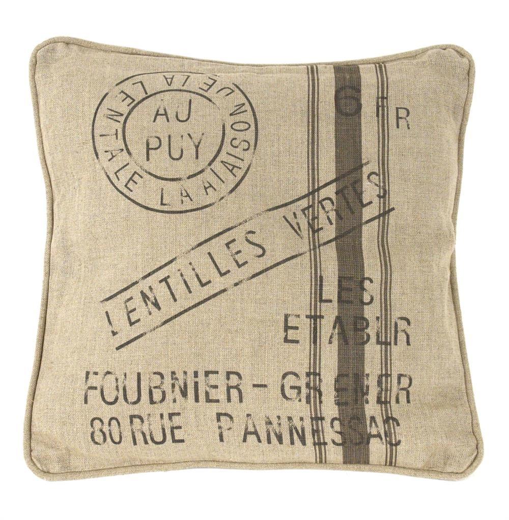French Country Farm Stand Lentilles Vertes Throw Pillow ...