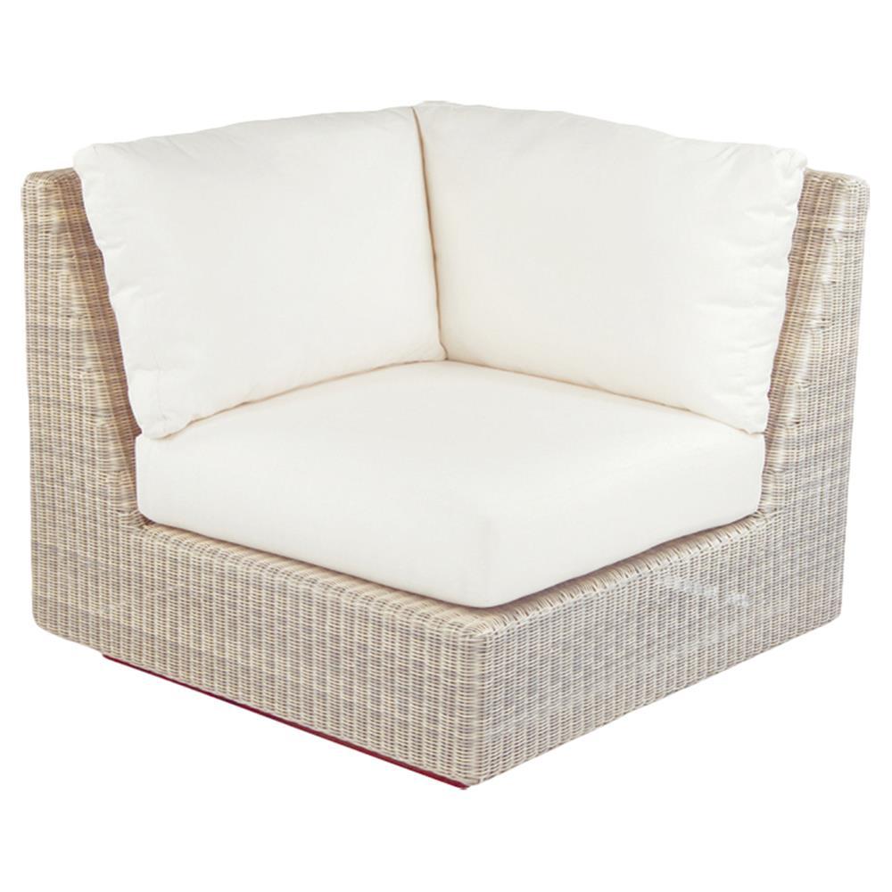 Kingsley Bate Westport Coastal Woven Wicker Outdoor Sectional Corner Chair Kathy Kuo Home