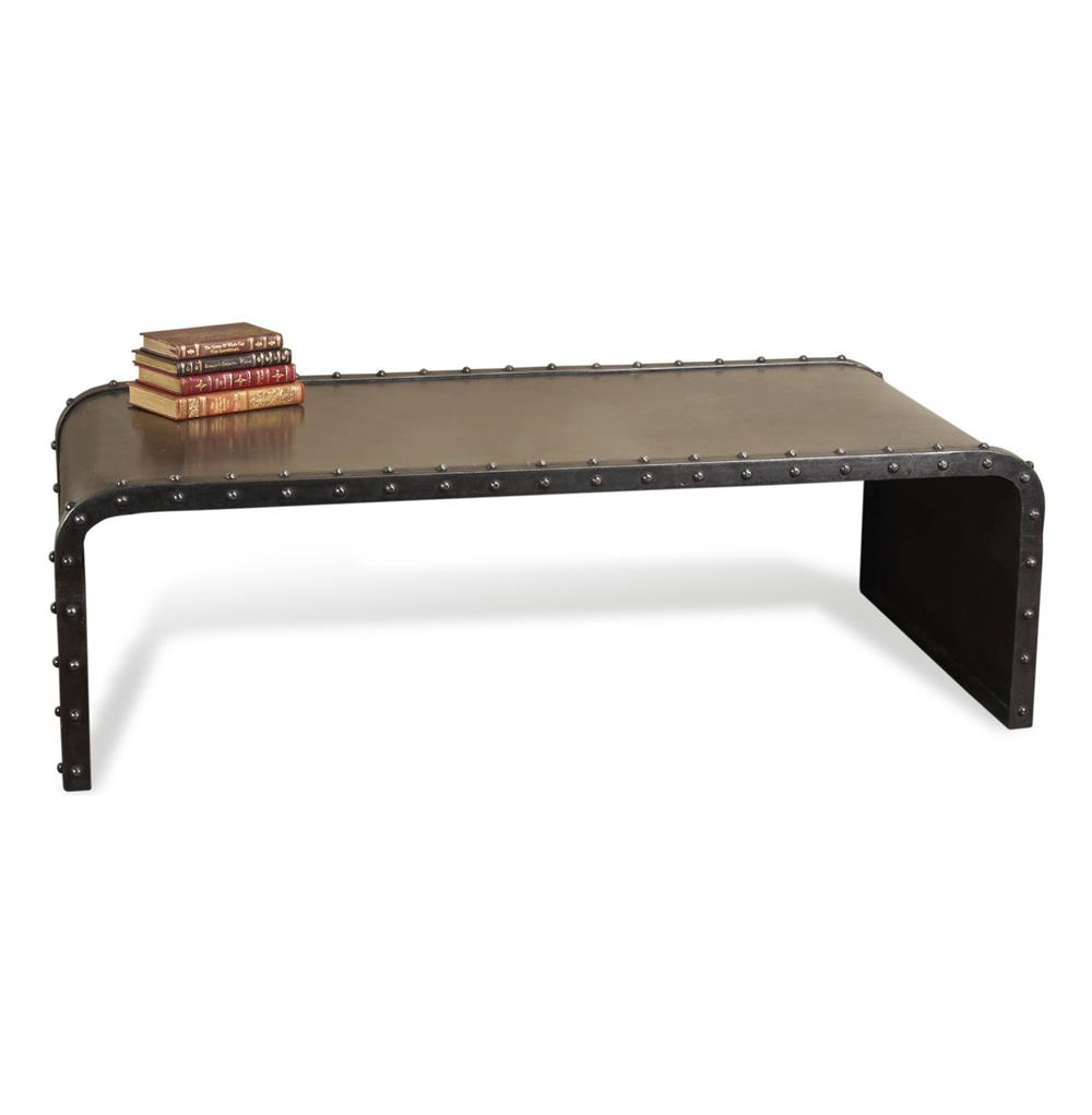Shipyard Rectangular Industrial Loft Iron Coffee Table Kathy Kuo Home