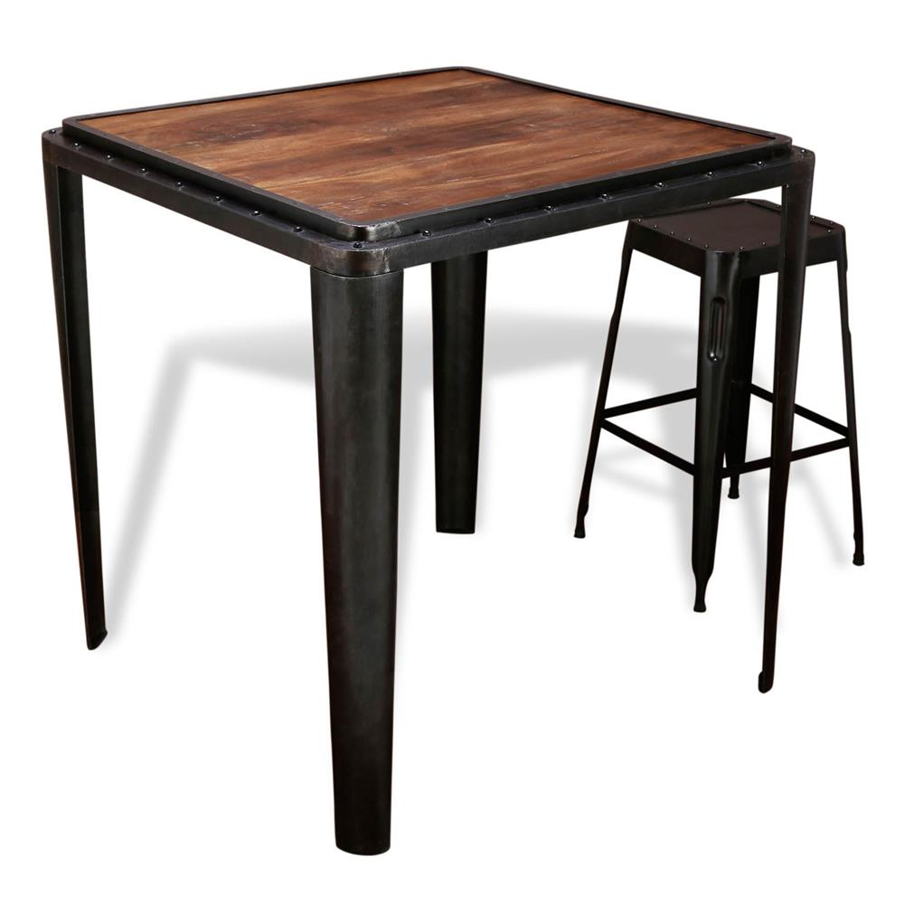 Talor industrial antique metal bar table kathy kuo home - Table bar industriel ...