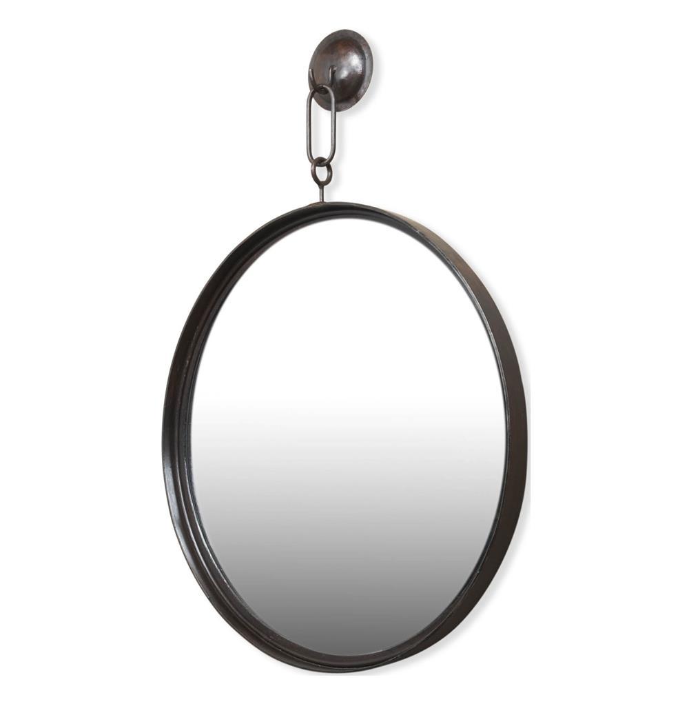 Gideon Antique Bronze Industrial Hanging Mirror Kathy