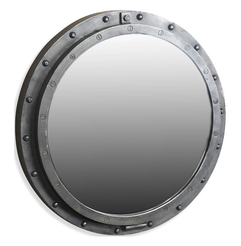 taloro small industrial loft porthole style mirror kathy
