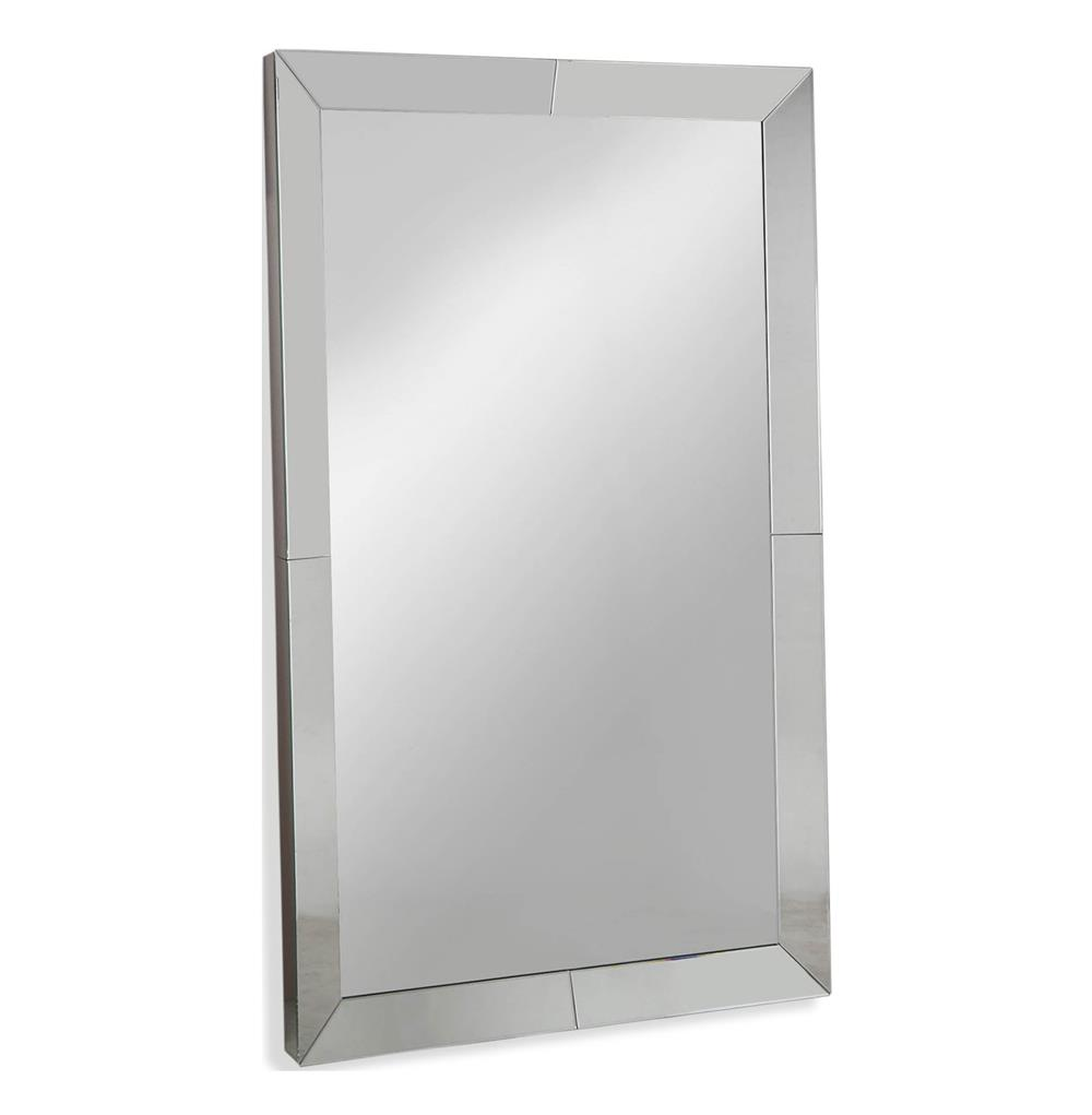 Lawrence large modern mirror framed floor mirror kathy for Tall framed mirror