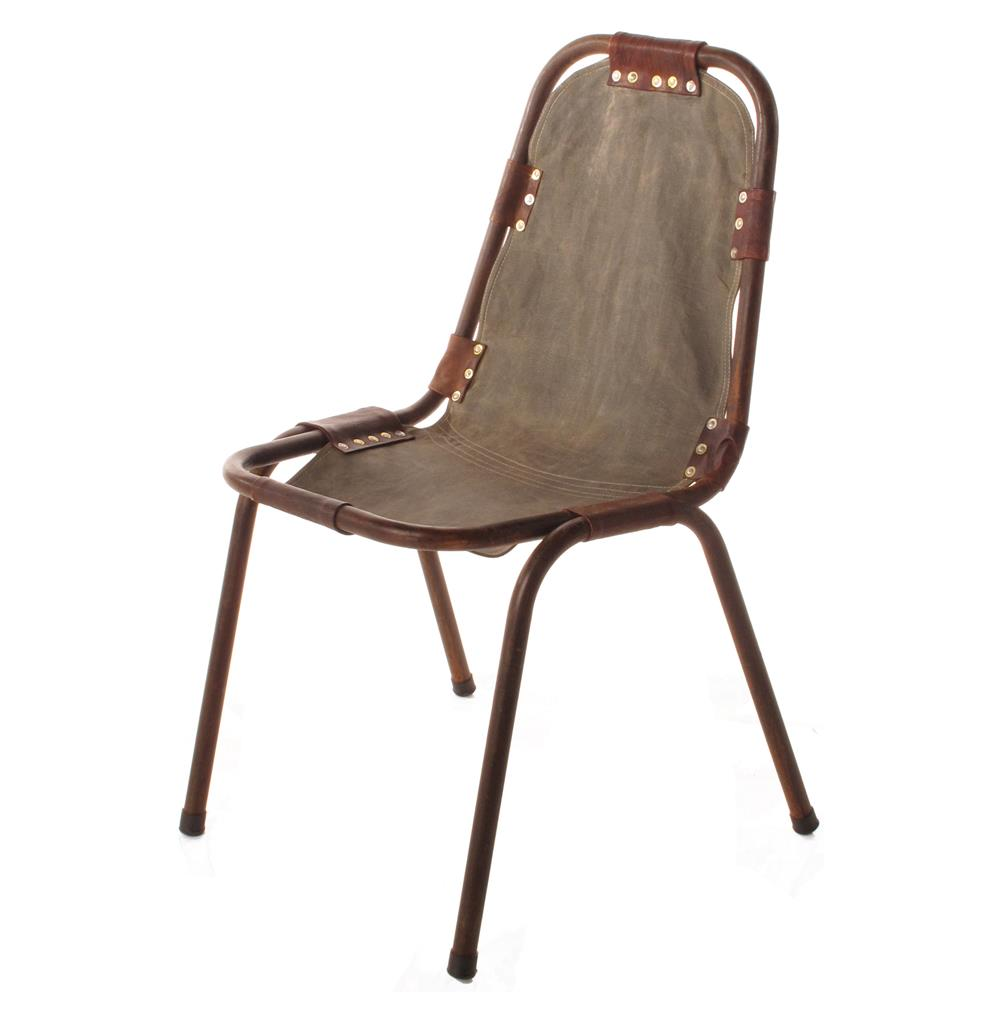 Laight Industrial Loft Canvas Leather Dining Chairs
