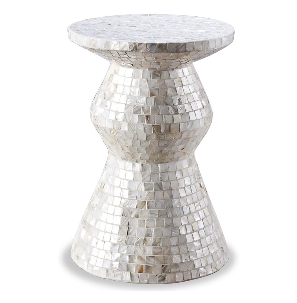 Augustine modern mother of pearl side accent stool table kathy augustine modern mother of pearl side accent stool table kathy kuo home geotapseo Image collections