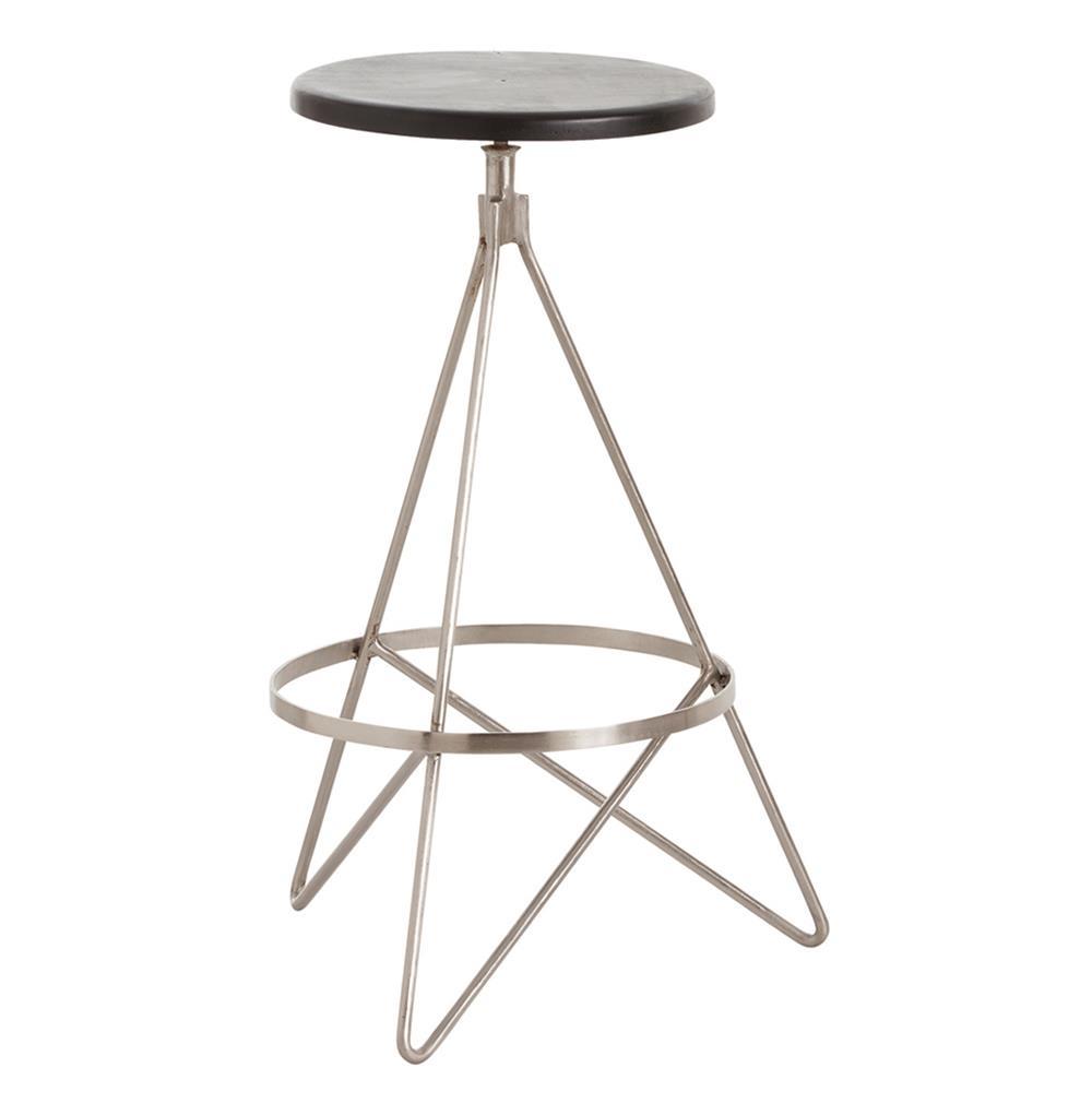 stools wyndham black wood polished nickel swivel modern bar stool