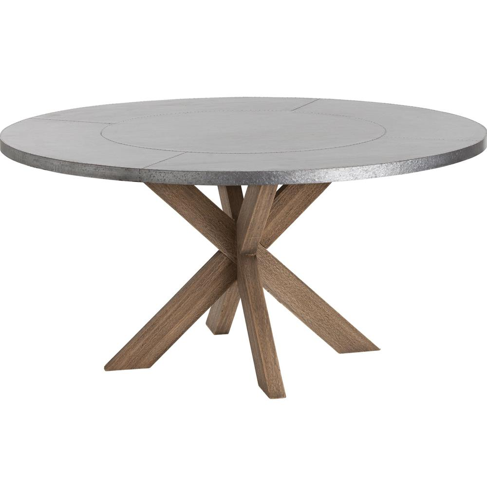 Dining table galvanized dining table - Steel kitchen tables ...