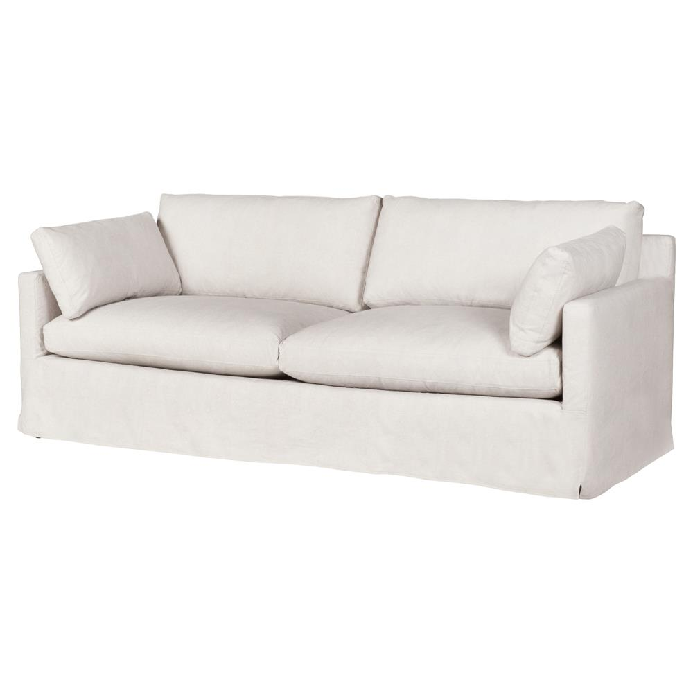 Cisco Brothers Louis Modern Classic Beige Linen Slipcovered Sofa - 78 inch