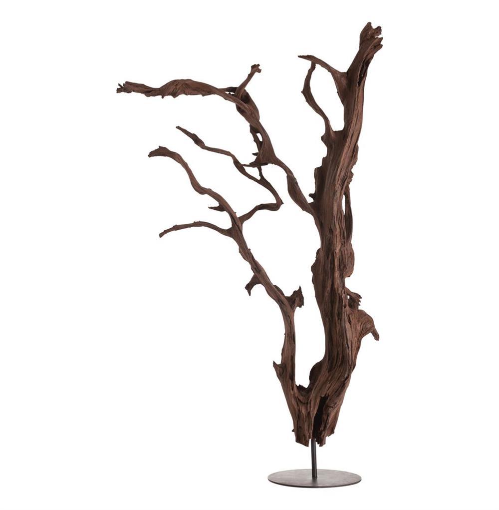 New Kazu Root Mangrove Tree Iron Floor Sculpture   Kathy Kuo Home LP31