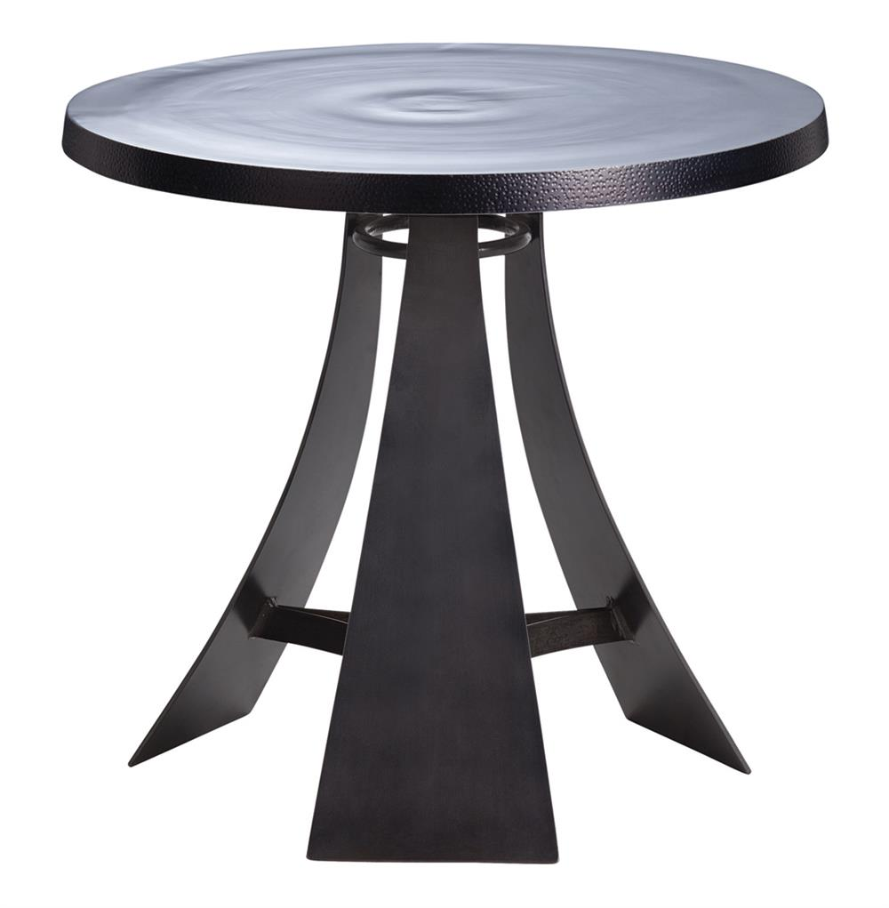 Burke Aluminum Iron Round Modern Accent End Table Kathy: modern side table
