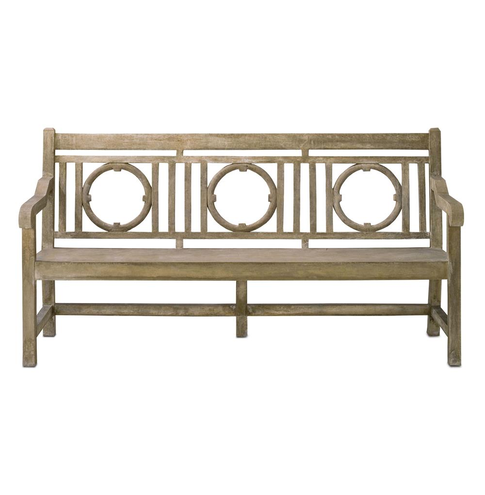 Classic English Garden Outdoor Lesgrave Bench Kathy Kuo Home