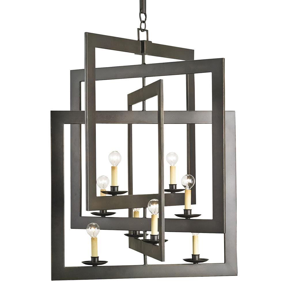 Modern industrial geometric 8 light pendant chandelier kathy kuo home aloadofball Image collections