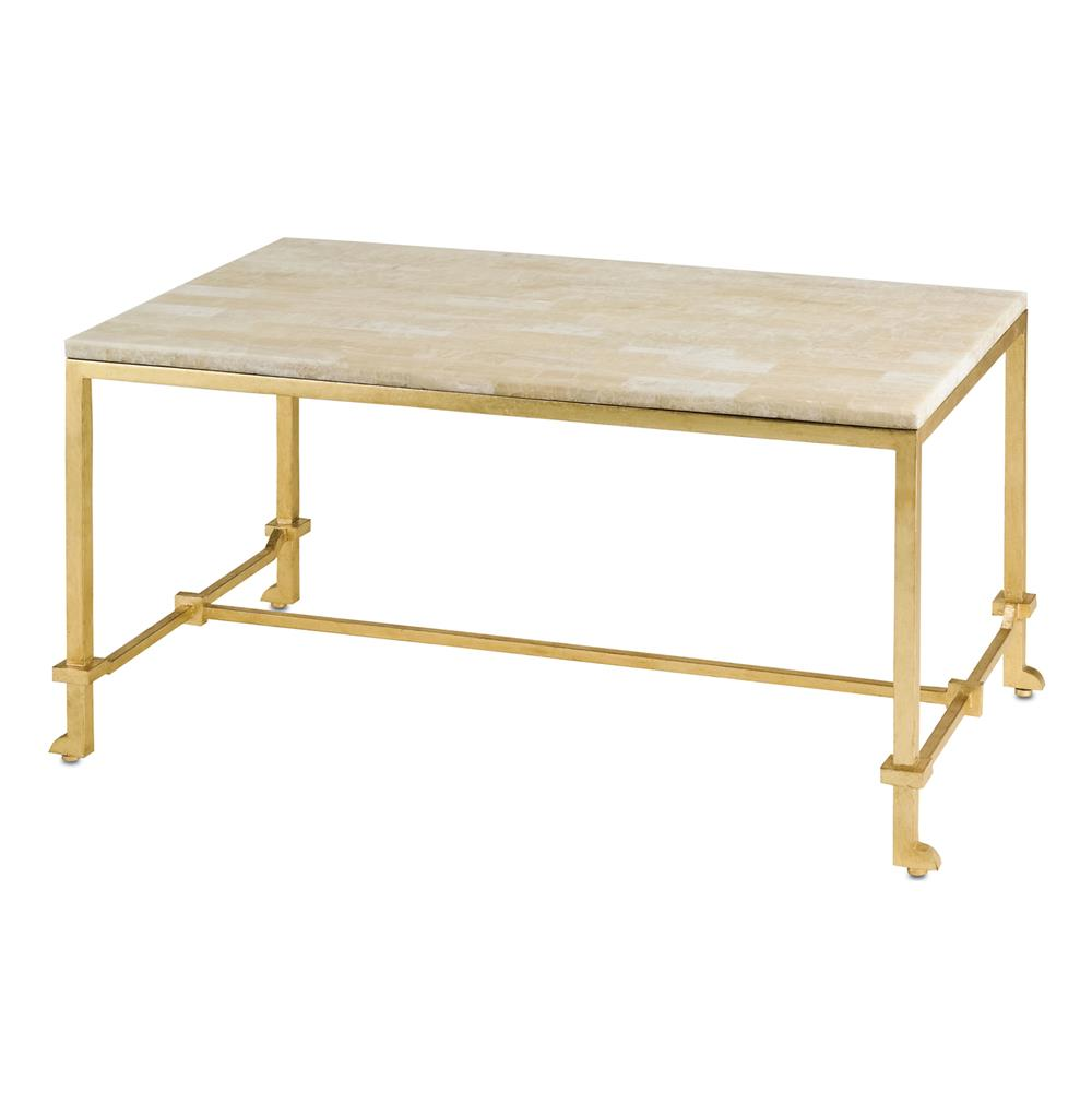 Classic Hollywood Regency Gold Leaf Coffee Table Kathy Kuo Home