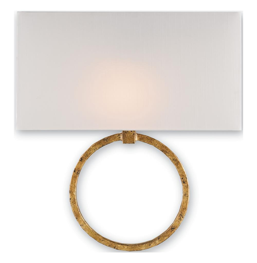 Infinity Circle Contemporary Gold Leaf Wall Sconce Kathy Kuo Home