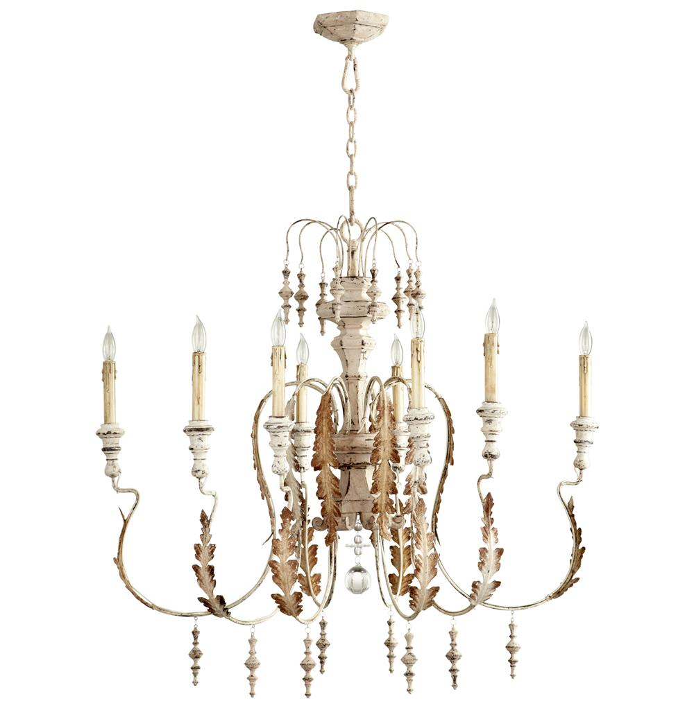 Marion french country white washed 8 light chandelier French country chandelier