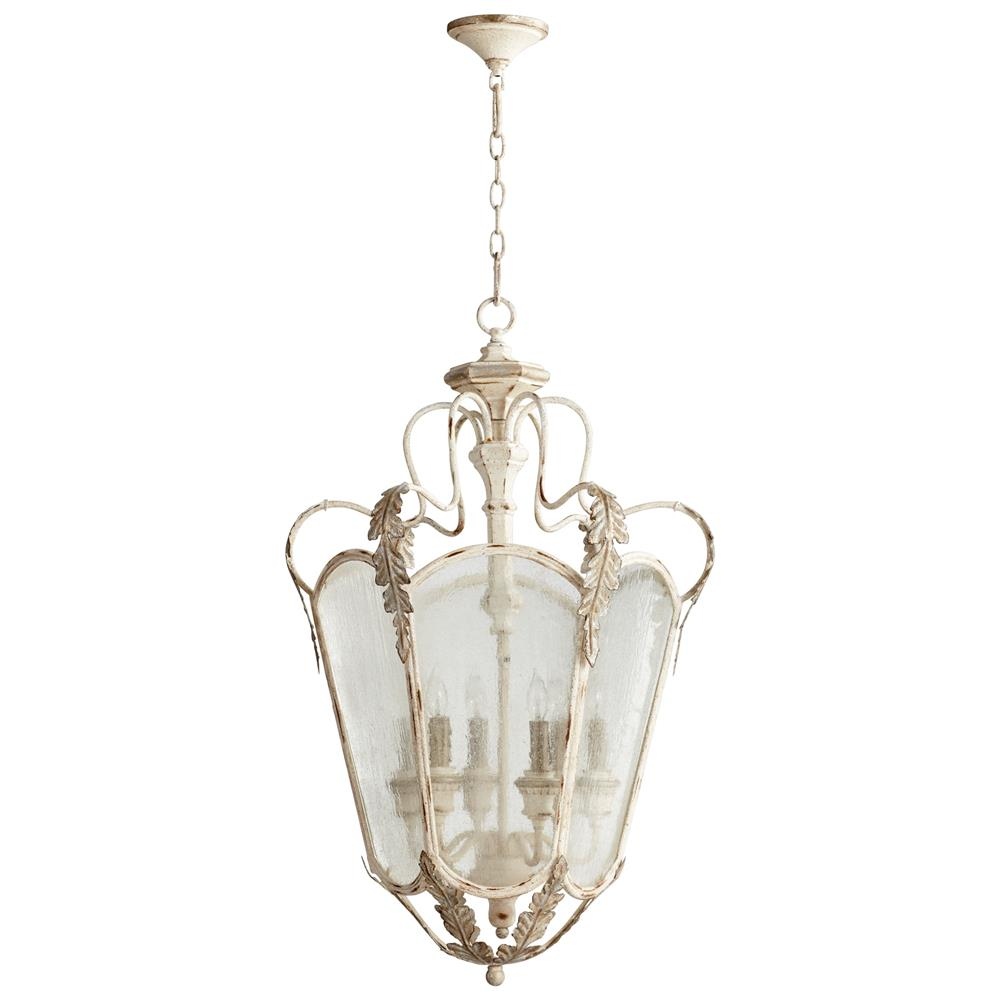 florent white washed french country 6 light entry lantern