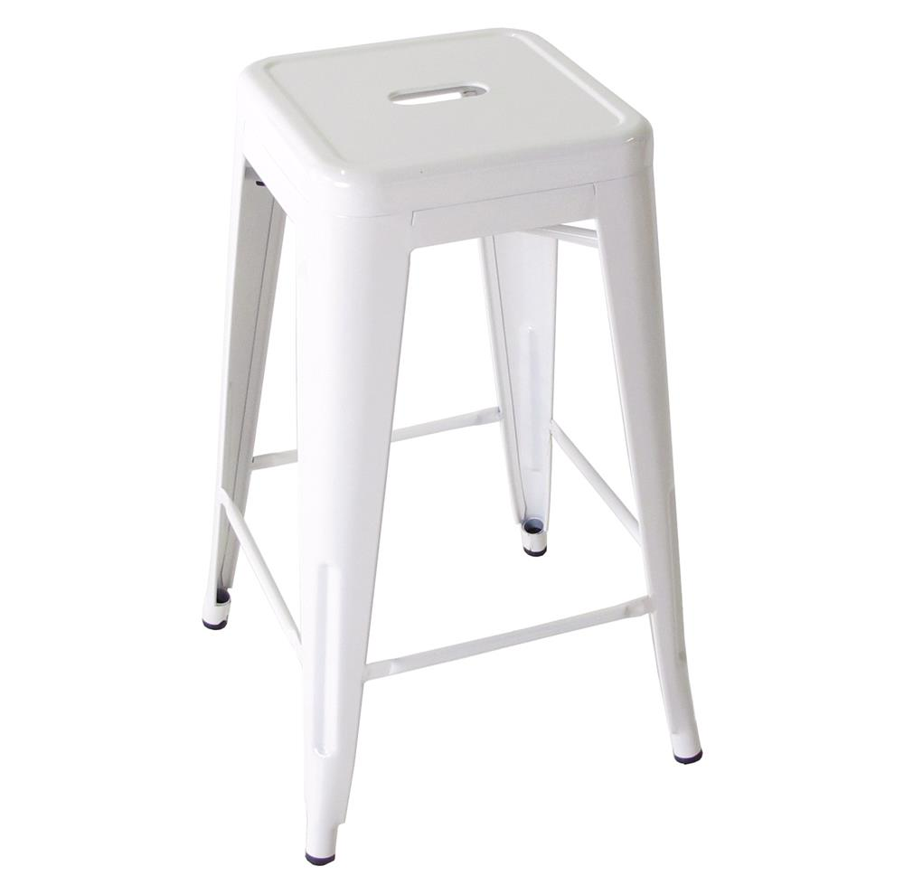bouchon french industrial white backless cafe counter stool set of 4 kathy kuo home. Black Bedroom Furniture Sets. Home Design Ideas