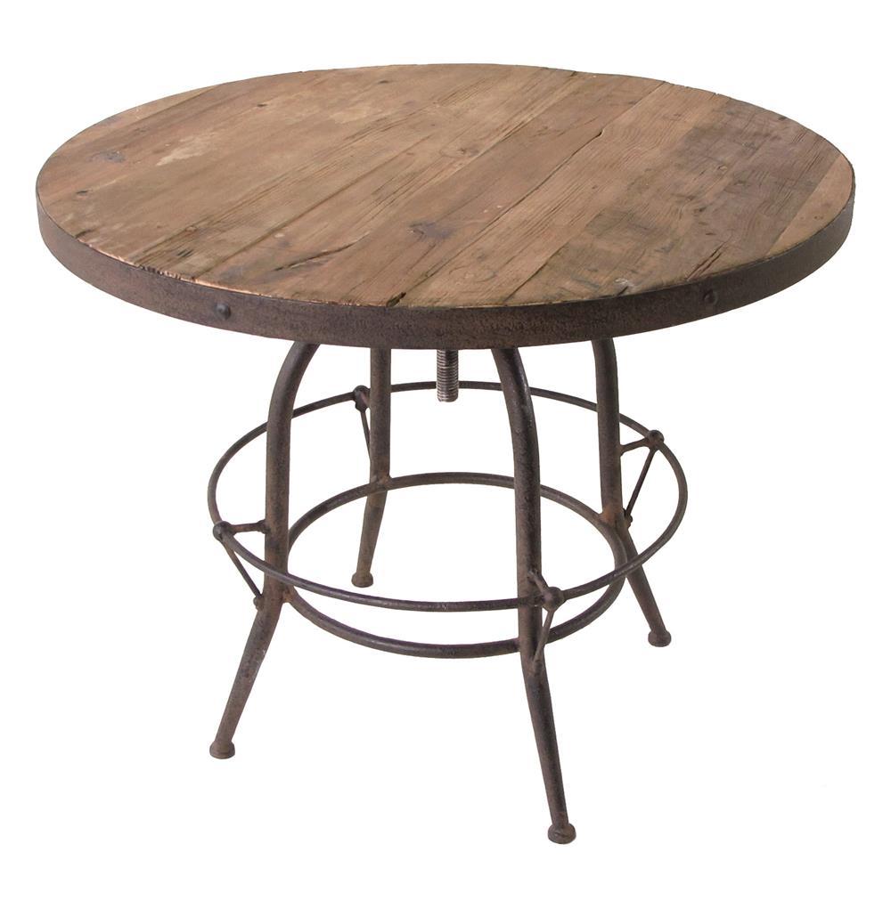 Elemental Reclaimed Wood Industrial Adjustable Dining Bar