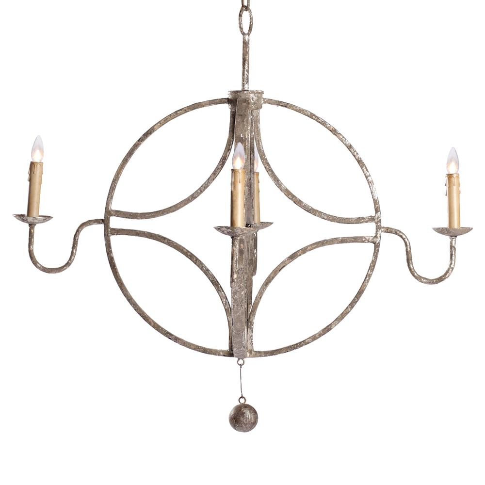 Winthrop french country interlocking circle rustic French country chandelier