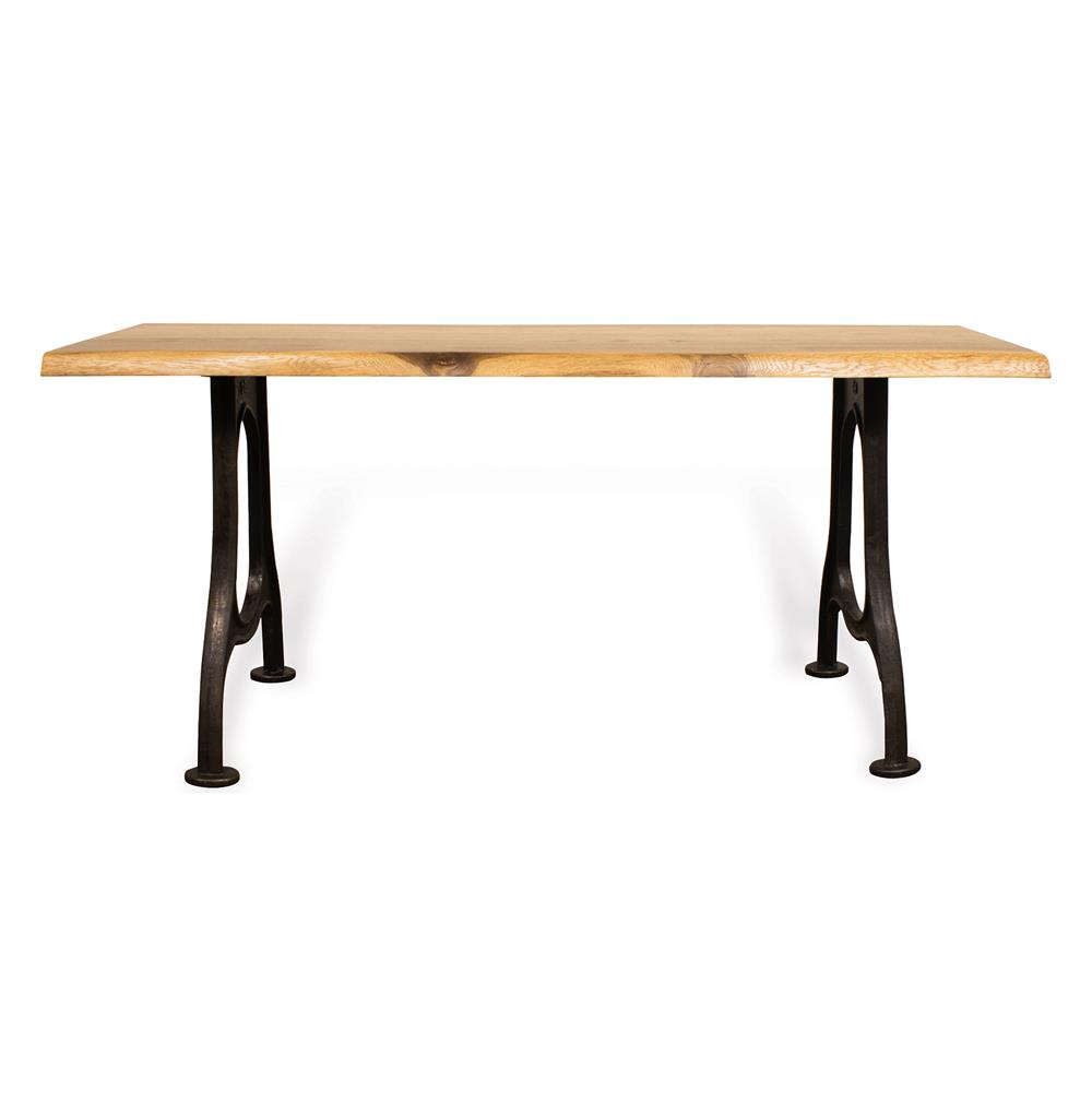 Lance Industrial Live Edge French Oak Console Table 71