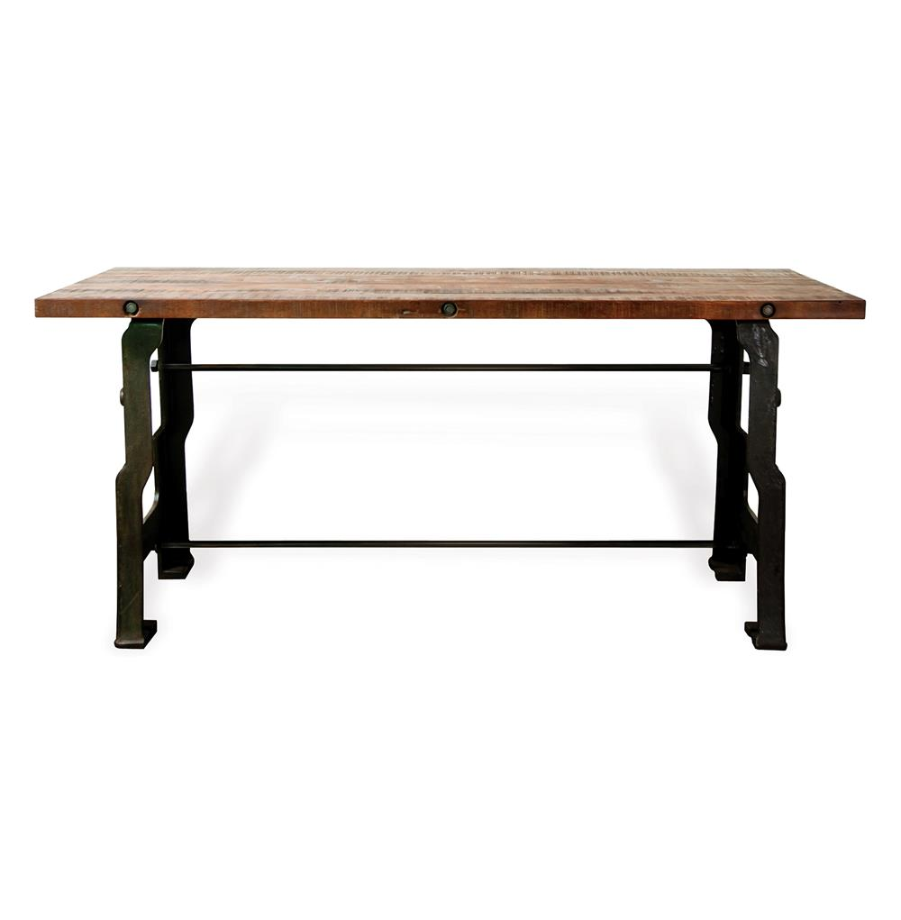 Hector 39 A Frame 39 Industrial Reclaimed Wood Cast Iron Desk