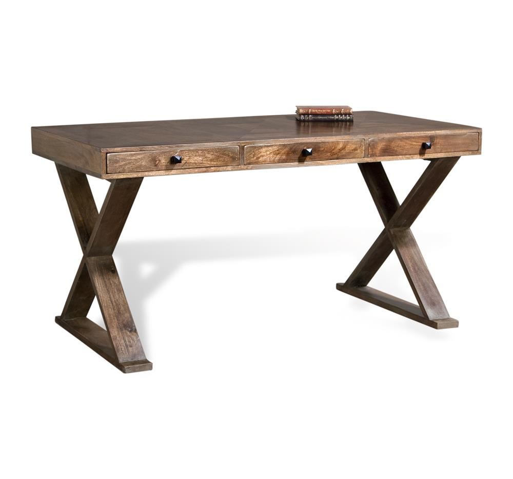 Salers Contemporary French Gray Solid Wood Writing Desk